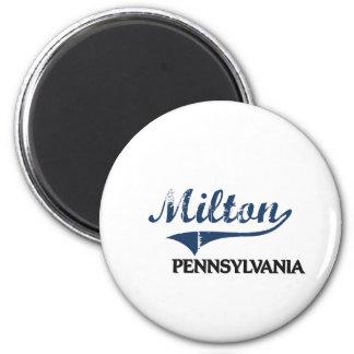 Obra clásica de la ciudad de Milton Pennsylvania Imán Redondo 5 Cm