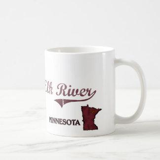 Obra clásica de la ciudad de Minnesota del río de Taza Básica Blanca