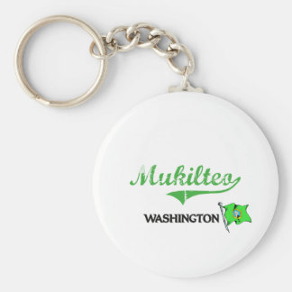 Obra clásica de la ciudad de Mukilteo Washington Llavero Personalizado
