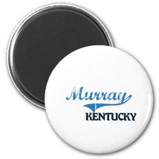 Obra clásica de la ciudad de Murray Kentucky Imán Redondo 5 Cm