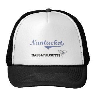Obra clásica de la ciudad de Nantucket Massachuset Gorra