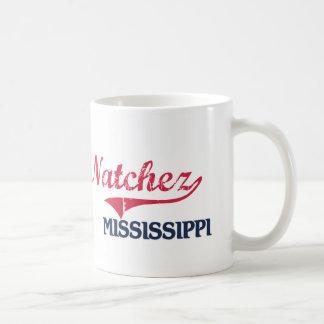 Obra clásica de la ciudad de Natchez Mississippi Taza Básica Blanca