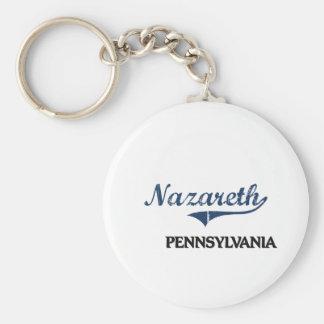 Obra clásica de la ciudad de Nazaret Pennsylvania Llaveros Personalizados