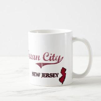 Obra clásica de la ciudad de New Jersey de la ciud Taza