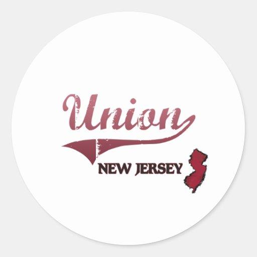 Obra clásica de la ciudad de New Jersey de la Pegatina Redonda