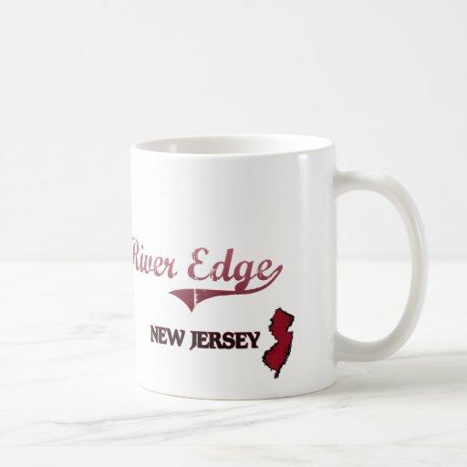 Obra clásica de la ciudad de New Jersey del borde  Tazas De Café