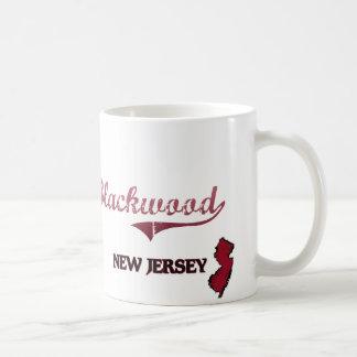 Obra clásica de la ciudad de New Jersey del Taza Básica Blanca