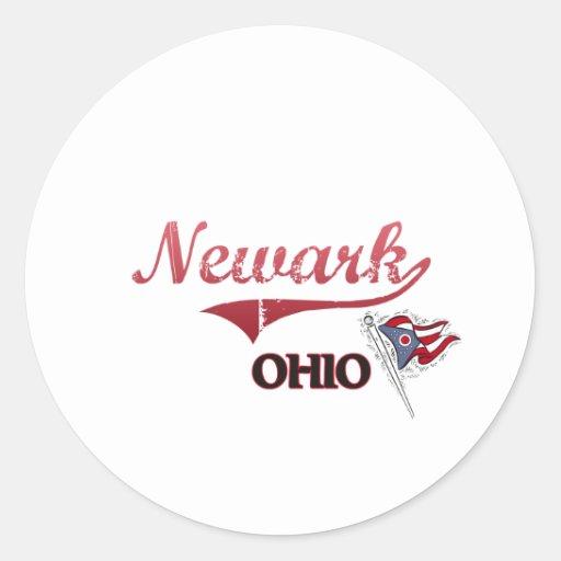 Obra clásica de la ciudad de Newark Ohio Etiqueta