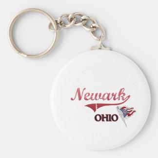 Obra clásica de la ciudad de Newark Ohio Llavero Redondo Tipo Pin