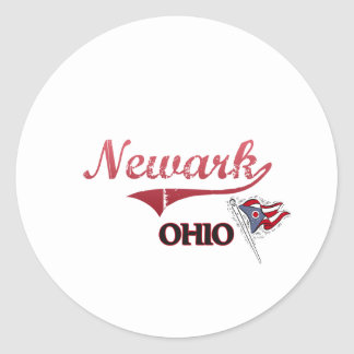 Obra clásica de la ciudad de Newark Ohio Pegatina Redonda