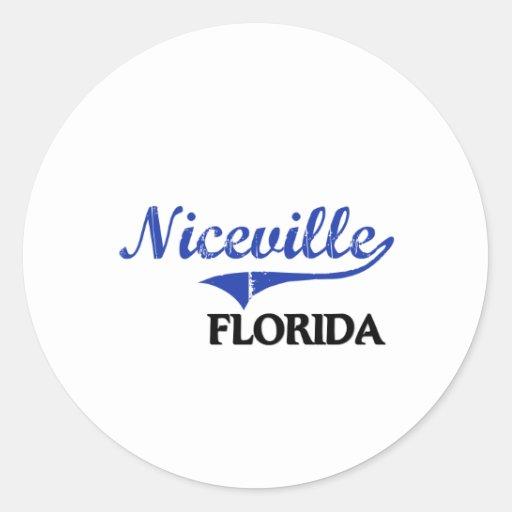 Obra clásica de la ciudad de Niceville la Florida Etiquetas