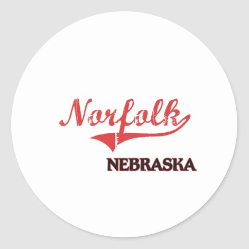 Obra clásica de la ciudad de Norfolk Nebraska Pegatina Redonda