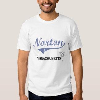 Obra clásica de la ciudad de Norton Massachusetts Playeras