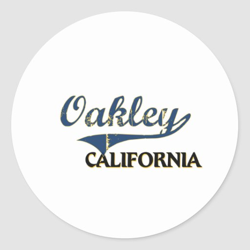 Obra clásica de la ciudad de Oakley California Pegatina Redonda