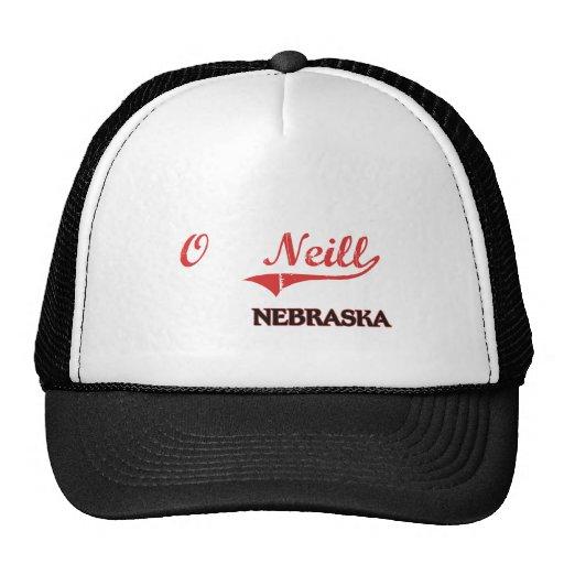 Obra clásica de la ciudad de O'Neill Nebraska Gorras