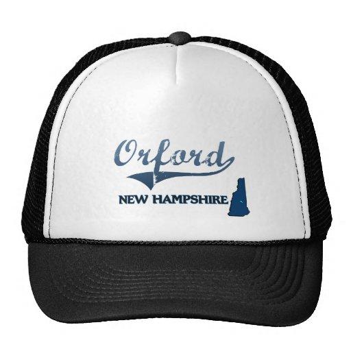 Obra clásica de la ciudad de Orford New Hampshire Gorras