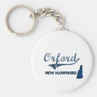 Obra clásica de la ciudad de Orford New Hampshire Llavero