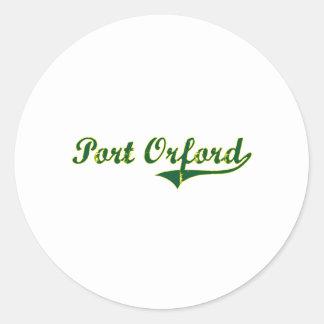 Obra clásica de la ciudad de Orford Oregon del pue Pegatina