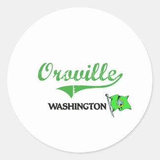Obra clásica de la ciudad de Oroville Washington Pegatina Redonda