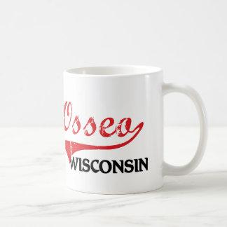 Obra clásica de la ciudad de Osseo Wisconsin Taza