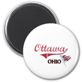 Obra clásica de la ciudad de Ottawa Ohio Imán Redondo 5 Cm