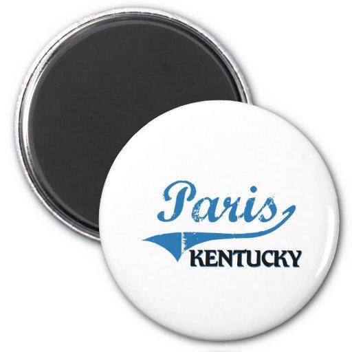Obra clásica de la ciudad de París Kentucky Iman Para Frigorífico