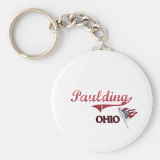 Obra clásica de la ciudad de Paulding Ohio Llavero Redondo Tipo Pin