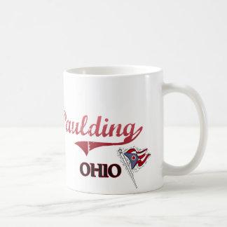 Obra clásica de la ciudad de Paulding Ohio Taza Básica Blanca