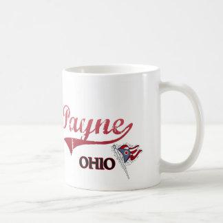 Obra clásica de la ciudad de Payne Ohio Taza Básica Blanca