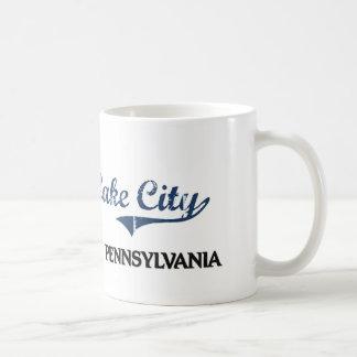 Obra clásica de la ciudad de Pennsylvania de la ci Tazas De Café