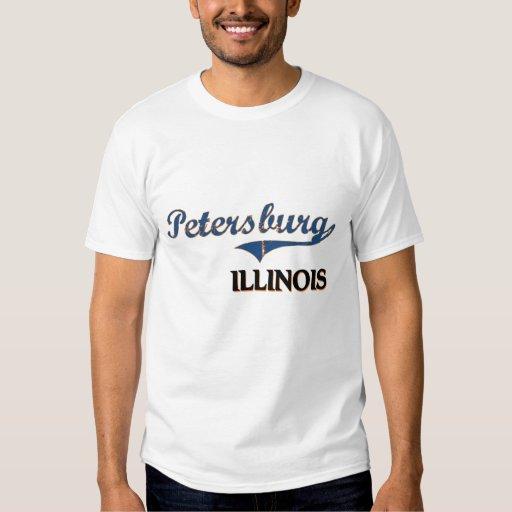 Obra clásica de la ciudad de Petersburgo Illinois Playera