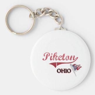 Obra clásica de la ciudad de Piketon Ohio Llavero Personalizado