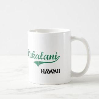 Obra clásica de la ciudad de Pukalani Hawaii Taza Básica Blanca