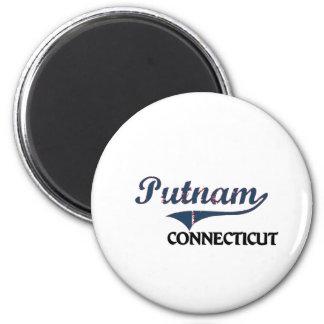 Obra clásica de la ciudad de Putnam Connecticut Imán Redondo 5 Cm
