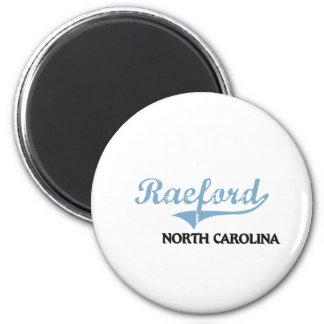Obra clásica de la ciudad de Raeford Carolina del  Imán Redondo 5 Cm