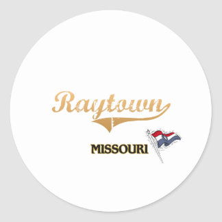Obra clásica de la ciudad de Raytown Missouri Pegatina Redonda
