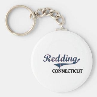 Obra clásica de la ciudad de Redding Connecticut Llavero Redondo Tipo Pin