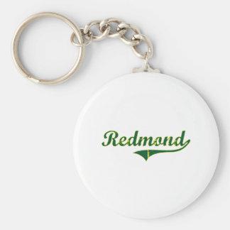 Obra clásica de la ciudad de Redmond Oregon Llavero Redondo Tipo Pin