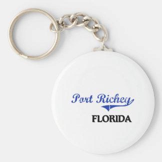 Obra clásica de la ciudad de Richey la Florida del Llavero Personalizado