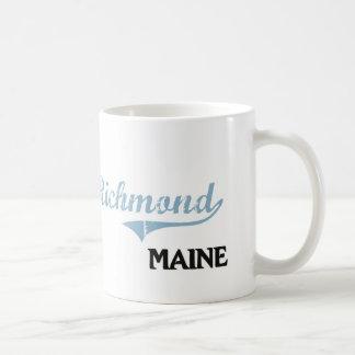 Obra clásica de la ciudad de Richmond Maine Taza Básica Blanca
