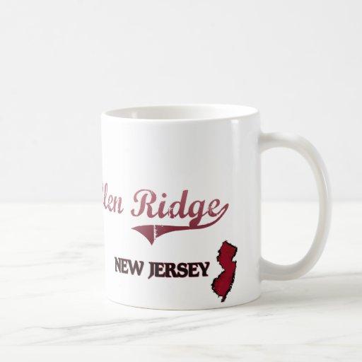 Obra clásica de la ciudad de Ridge New Jersey de Taza Básica Blanca