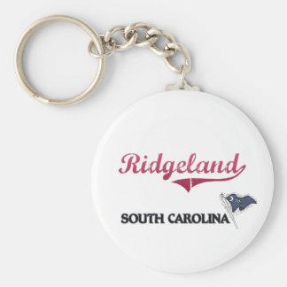 Obra clásica de la ciudad de Ridgeland Carolina de Llaveros Personalizados
