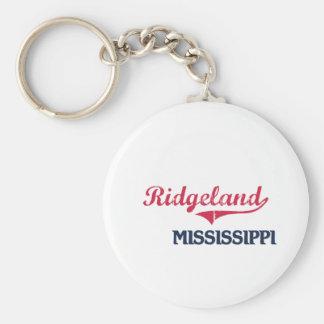 Obra clásica de la ciudad de Ridgeland Mississippi Llavero