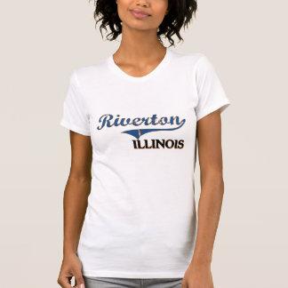 Obra clásica de la ciudad de Riverton Illinois Camisetas