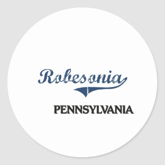 Obra clásica de la ciudad de Robesonia Pennsylvani Pegatina