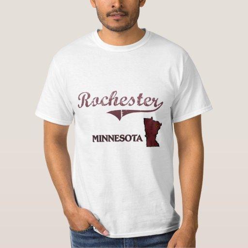 Obra clásica de la ciudad de Rochester Minnesota Remera