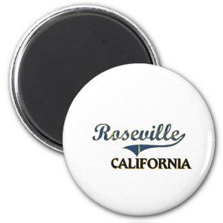 Obra clásica de la ciudad de Roseville California Imán Redondo 5 Cm