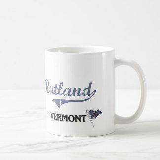 Obra clásica de la ciudad de Rutland Vermont Tazas De Café