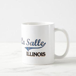 Obra clásica de la ciudad de Salle Illinois del La Taza Básica Blanca
