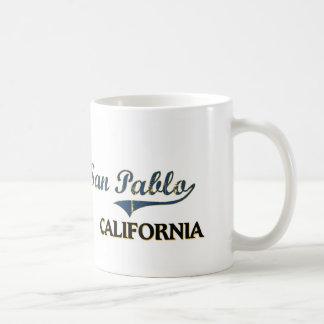 Obra clásica de la ciudad de San Pablo California Taza De Café